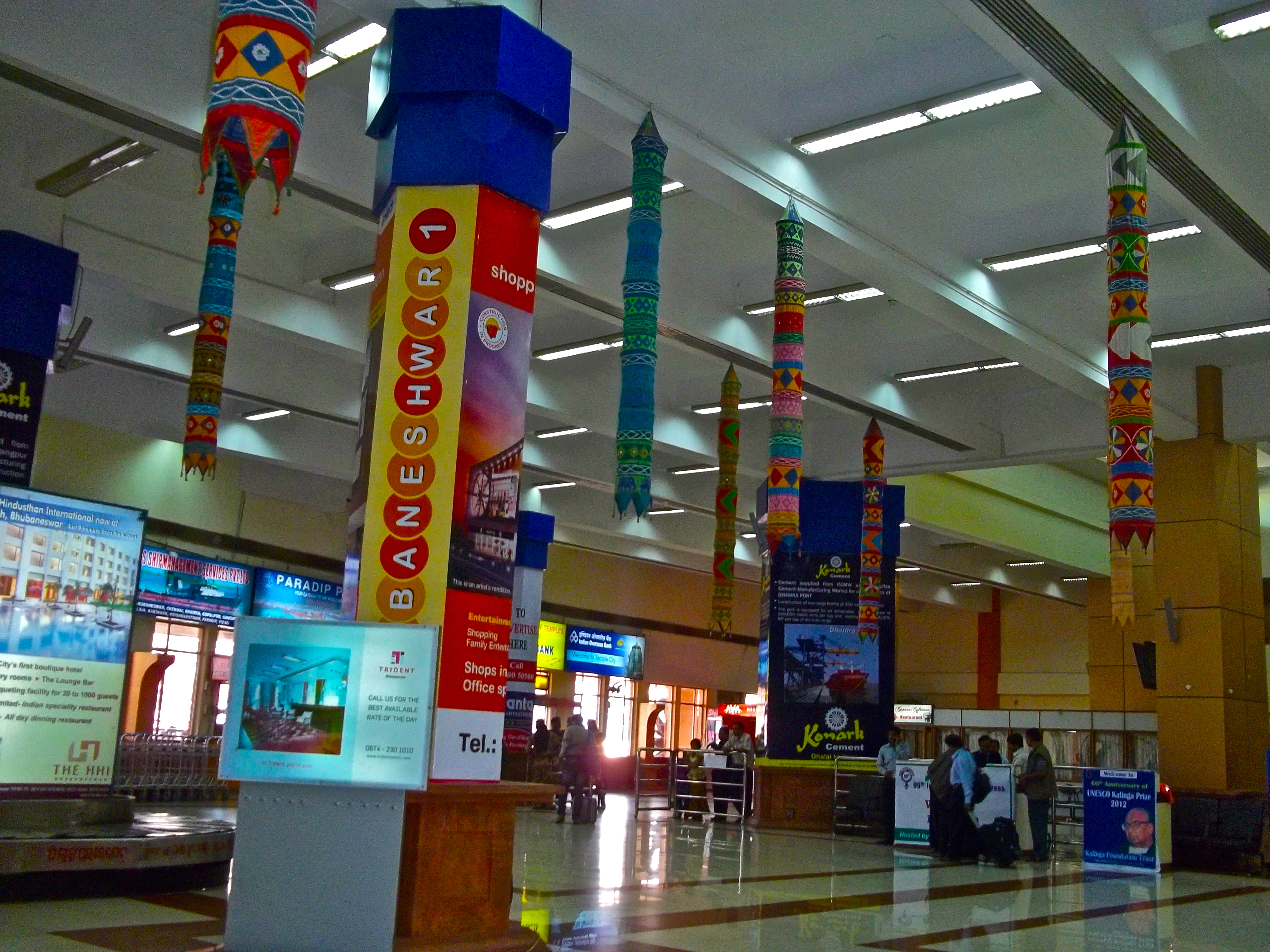 Biju Patnaik Airport serves the Indian city of Bhubaneswar.
